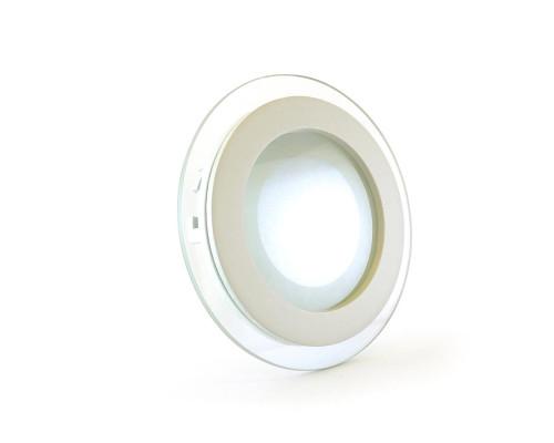Светильник точечный со стеклом 6Вт 4000К круг IP20