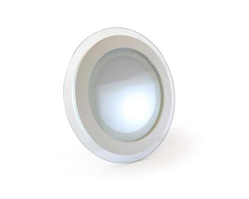 Светильник точечный со стеклом 12Вт 4000К круг IP20