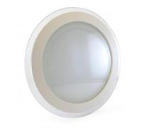 Светильник точечный со стеклом 18Вт 4000К круг IP20