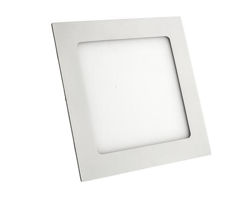 Светильник точечный врезной 12Вт 3000К квадрат пластик IP20