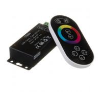Led контроллер светодиодный черный rgb 18А/216 Вт, (8 кнопок)
