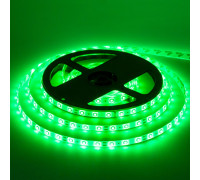 Лента светодиодная зеленая 12V smd2835 60LED/m IP65, 1м