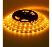 Лента светодиодная желтая 12V smd2835 60LED/m IP20, 1м