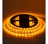 Лента светодиодная желтая 12V smd2835 60LED/m IP65, 1м