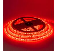 Лента светодиодная красная 12V smd2835 120LED/m IP20, 1м