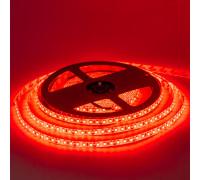 Лента светодиодная красная 12V smd2835 120LED/m IP65, 1м
