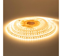 Лента светодиодная теплая белая 12V smd2835 120LED/m IP65, 1м
