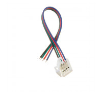 Коннектор для лед лент RGB 12V 10mm провод/зажим