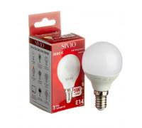 Лампа светодиодная G45 теплая белая 5W E14 3000K