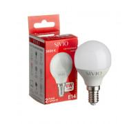 Лампа светодиодная G45 теплая белая 6W E14 3000K