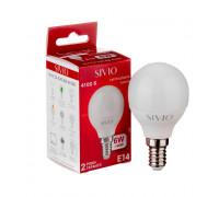 Лампа светодиодная G45 нейтральная белая 6W E14 4100K