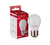 Лампа светодиодная теплая белая G45 6W E27 3000K