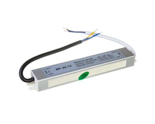 Led блок питания 12V F/1.67A 20Bт IP 65