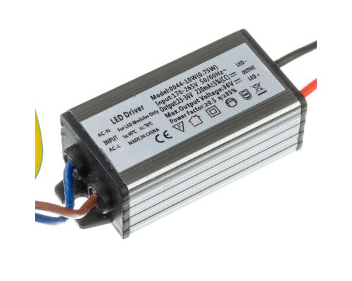 Драйвер 10W для светодиодного прожектора (600мА) 36В