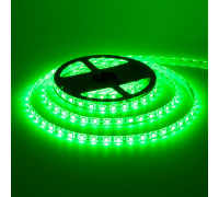 Лента светодиодная зеленая 12V smd5050 60LED/m IP20, 1м
