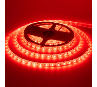 Лента светодиодная красная 12V smd5050 60LED/m IP20, 1м