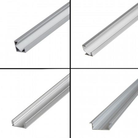 Купить Профиль светодиодный накладной ПФ-15 полуматовый рассеиватель (комплект) 1m