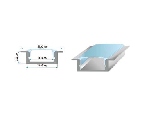 Профиль алюминиевый врезной ПФ-19 2м