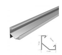 Профиль светодиодный без покрытия накладной ПФ-20 1m