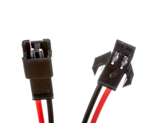 Комплект коннекторов для лед лент папа+мама 12V 2pin черный с зажимом