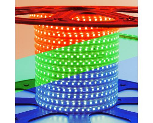 Лента светодиодная 220V rgb smd5050 10W/m 60LED/m IP65, 1м