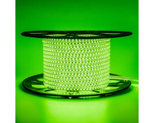 Лента светодиодная зеленая 220V AVT smd2835 120LED/m 4W/m IP65, 1м