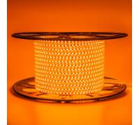 Лента светодиодная оранжевая 220V AVT smd2835 120LED/m 4W/m IP65, 1м