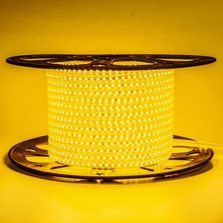 Купить Лента светодиодная желтая 220V AVT smd2835 120LED/m 4W/m IP65, 1м