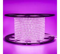 Лента светодиодная розовая 220V AVT smd2835 120LED/m 4W/m IP65, 1м