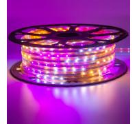 Мигающая лента светодиодная Multi-Color 220V smd2835 48LED/m 6W/m IP65, 1м
