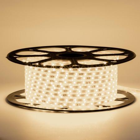 Купить Лента светодиодная белая теплая 220V smd2835 120LED/m 12W/m IP65, 1м