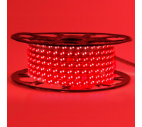 Лента светодиодная красная 220V smd2835 120LED/m 12W/m IP65, 1м