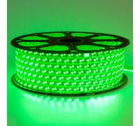 Лента светодиодная зеленая 220V smd2835 120LED/m 12W/m IP65, 1м
