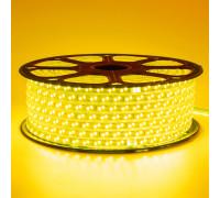 Лента светодиодная желтая 220V smd2835 120LED/m 12W/m IP65, 1м