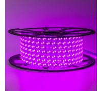 Лента светодиодная розовая 220V smd2835 120LED/m 12W/m IP65, 1м