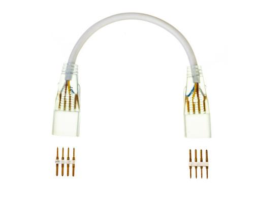 Конектор для светодиодного неона AVT RGB 220V smd5050 2 разъема+2 шт. 4pin с проводом