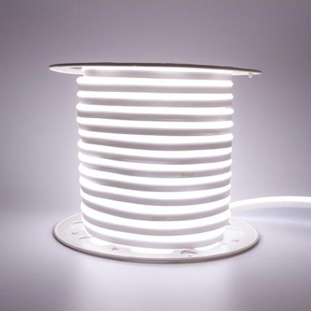 Купить Неоновая светодиодная лента нейтральная белая AVT 220V smd2835 120LED/m 7W/m IP65, 1м