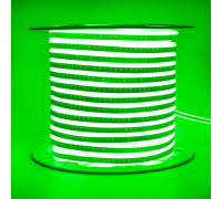Неоновая светодиодная лента зеленая AVT 220V smd2835 120LED/m 7W/m IP65, 1м