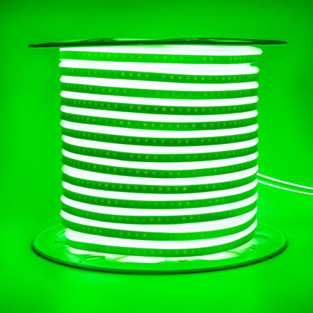 Купить Неоновая светодиодная лента зеленая AVT 220V smd2835 120LED/m 7W/m IP65, 1м