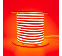Неоновая светодиодная лента красная AVT 220V smd2835 120LED/m 7W/m IP65, 1м