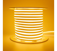 Неоновая светодиодная лента желтая AVT 220V smd2835 120LED/m 7W/m IP65, 1м