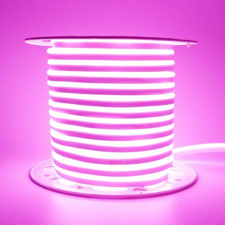 Купить Неоновая светодиодная лента розовый AVT 220V smd2835 120LED/m 7W/m IP65, 1м