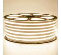 Неоновая светодиодная лента белая теплая 220V smd2835 120LED/m 12W/m IP65, 1м