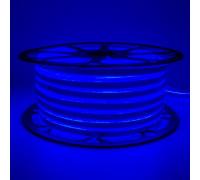 Неоновая светодиодная лента синяя 220V smd2835 120LED/m 12W/m IP65, 1м