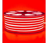 Неоновая светодиодная лента красная 220V smd2835 120LED/m 12W/m IP65, 1м