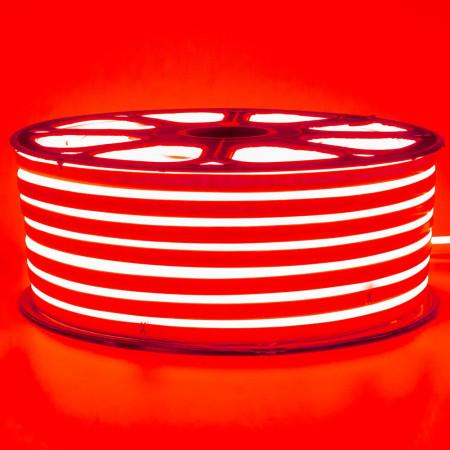 Купить Неоновая светодиодная лента красная 220V smd2835 120LED/m 12W/m IP65, 1м