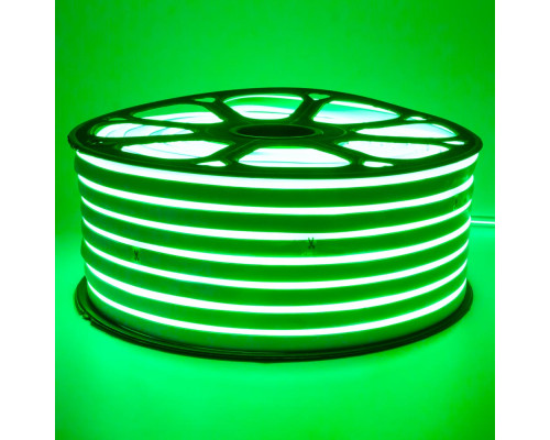 Неоновая светодиодная лента зеленая 220V smd2835 120LED/m 12W/m IP65, 1м