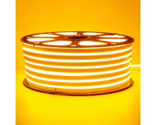 Неоновая светодиодная лента желтая 220V smd2835 120LED/m 12W/m IP65, 1м