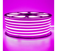 Неоновая светодиодная лента розовая 220V smd2835 120LED/m 12W/m IP65, 1м