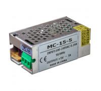 Led блок питания 5V МС/3A 15Bт IP 20